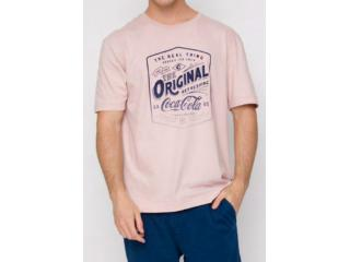 Camiseta Masculina Coca-cola Clothing 353207439 44160 Rosa - Tamanho Médio