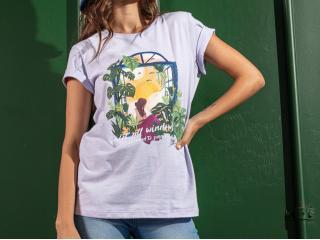 Camiseta Feminina Coca-cola Clothing 343203450 44130 Lilas - Tamanho Médio