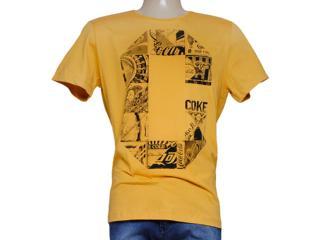 Camiseta Masculina Coca-cola Clothing 353204299 Mostarda - Tamanho Médio
