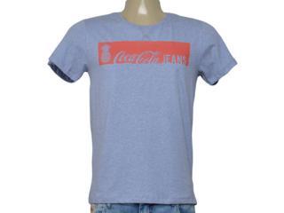 Camiseta Masculina Coca-cola Clothing 353206178 Vb101 Azul/off White - Tamanho Médio
