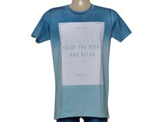 Camiseta Masculina Coca-cola Clothing 353205732 Azul Degrade - Tamanho Médio