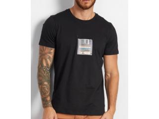 Camiseta Masculina Colcci 350109366 0050 Preto - Tamanho Médio