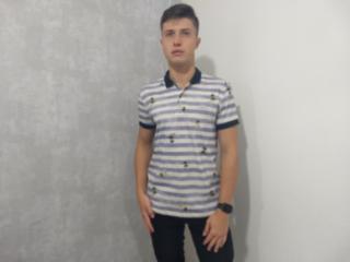 Camiseta Masculina Colcci 250102458 Vc34 Branco Listrado/azul - Tamanho Médio