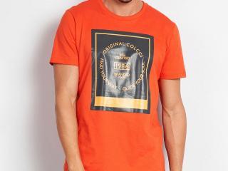 Camiseta Masculina Colcci 350109387 53708 Laranja - Tamanho Médio
