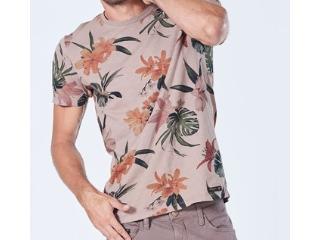 Camiseta Masculina Colcci 350108250 44085 Rosa Floral - Tamanho Médio