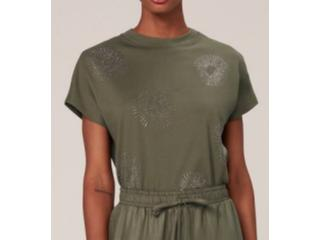 Camiseta Feminina Dzarm 6r2n Eacen Verde - Tamanho Médio
