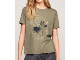 Camiseta Feminina Dzarm 6rzw Eamen Verde - Tamanho Médio