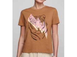 Camiseta Feminina Dzarm 6rzw Hmaen Camel - Tamanho Médio