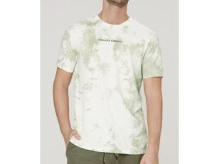Camiseta Masculina Dzarm 6r8c 1ben Verde/off White - Tamanho Médio