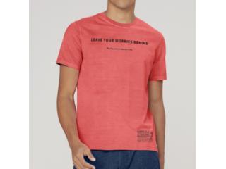 Camiseta Masculina Dzarm 6r8e 1cen Coral - Tamanho Médio