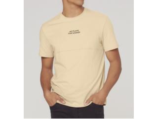 Camiseta Masculina Dzarm 6raz Hlken Bege - Tamanho Médio