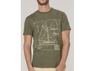 Camiseta Masculina Dzarm 6r7m Eacen Verde Militar - Tamanho Médio