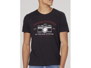 Camiseta Masculina Dzarm 6r7m N10en Preto - Tamanho Médio