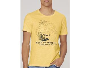 Camiseta Masculina Dzarm 6r7m Yrben Amarelo - Tamanho Médio