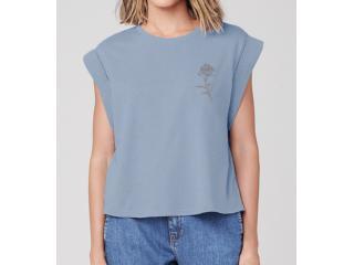 Camiseta Feminina Dzarm 6rte Az3en Azul - Tamanho Médio