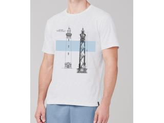 Camiseta Masculina Dzarm 6r7m N0aen Branco - Tamanho Médio