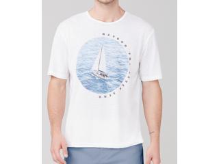 Camiseta Masculina Dzarm 6r8b N0aen Branco - Tamanho Médio
