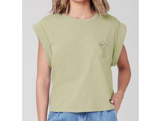 Camiseta Feminina Dzarm 6rte Wg6en Verde - Tamanho Médio