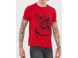 Camiseta Masculina Ellus 53c7430 40 Vermelho - Tamanho Médio