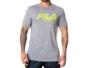 Camiseta Masculina Fila Rp180769.948 Run Bars Melange Mescla Cinza - Tamanho Médio