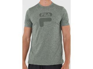 Camiseta Masculina Fila Tr180254.2526  Dna ii Verde Militar - Tamanho Médio