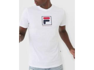 Camiseta Masculina Fila F11l518147.100 Established Branco - Tamanho Médio