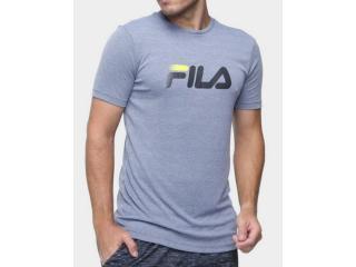 Camiseta Masculina Fila F11r518065.2350 Run go to Mars Cinza - Tamanho Médio