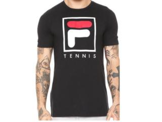 Camiseta Masculina Fila Tp180215 Soft Urban 590 Preto/branco - Tamanho Médio