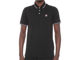 Camiseta Masculina Fila Ls360191.160  Premium Pima Preto - Tamanho Médio
