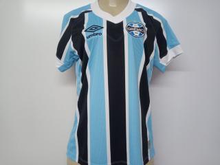 Camiseta Feminina Grêmio U32g026.312 Fem 0f 1 2021 Celeste/preto/branco - Tamanho Médio