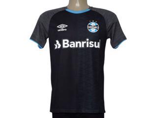 Camiseta Masculina Grêmio 3g160350 Aquecimento 2018 Grafite/preto/celeste - Tamanho Médio