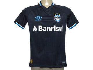 Camiseta Masculina Grêmio 3g160678 Oficial 3 Torcedor n 10 2018 Preto/branco/azul - Tamanho Médio