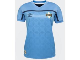 Camiseta Feminina Grêmio U32g514090 Of.3 2020 Torcedor Azul/marinho - Tamanho Médio