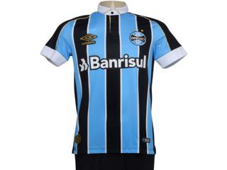Camiseta Masculina 3g160779 Grêmio Of.1 2019 Classic Tricolor - Tamanho Médio