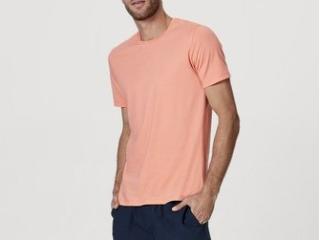 Camiseta Masculina Hering 0201 Llten Laranja - Tamanho Médio