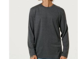 Camiseta Masculina Hering 026x Md307s Grafite - Tamanho Médio