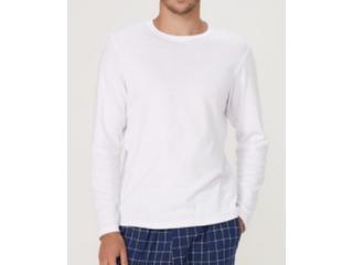 Camiseta Masculina Hering 7cep N0aen Branco - Tamanho Médio