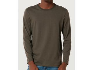 Camiseta Masculina Hering 026x Naten Verde Musgo - Tamanho Médio