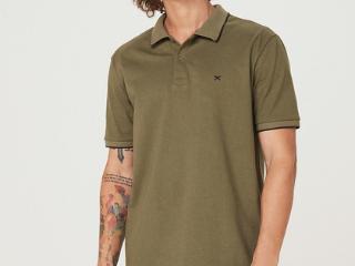 Camiseta Masculina Hering 3m4m Eacen  Verde - Tamanho Médio