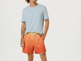 Camiseta Masculina Hering 0201 Av7en  Azul Claro - Tamanho Médio