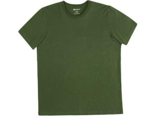 Camiseta Masculina Hering 0201 E76en Verde Escuro - Tamanho Médio