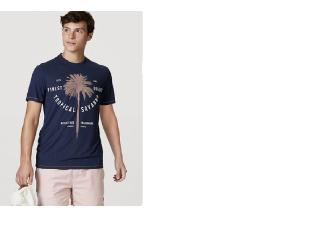Camiseta Masculina Hering 4ekb Axten Marinho - Tamanho Médio
