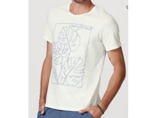 Camiseta Masculina Hering 4efz Nmcen Branco - Tamanho Médio