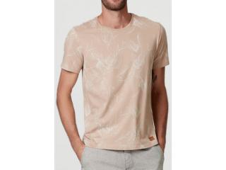Camiseta Masculina Hering 4efk 3jen Bege Estampado - Tamanho Médio