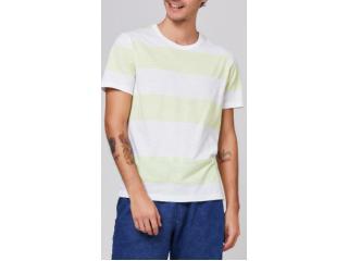 Camiseta Masculina Hering 4eux 1aen Branco/verde - Tamanho Médio
