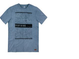 Camiseta Masculina Hering 4erv 1xen Azul Jeans - Tamanho Médio