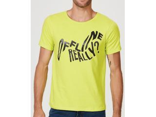 Camiseta Masculina Hering 4f1h Wh2en Amarelo Limão - Tamanho Médio