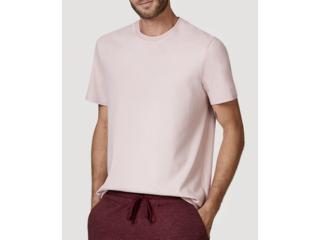 Camiseta Masculina Hering 0227 Krqen Rosa Claro - Tamanho Médio