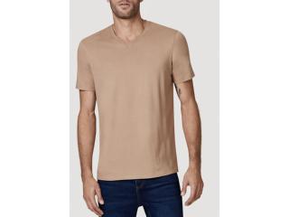Camiseta Masculina Hering 022b Hlden Marrom Claro - Tamanho Médio