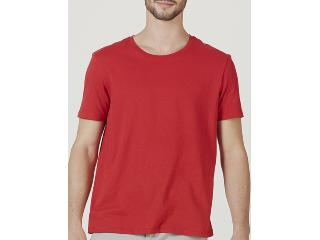 Camiseta Masculina Hering 0201 Rvten Vermelho - Tamanho Médio